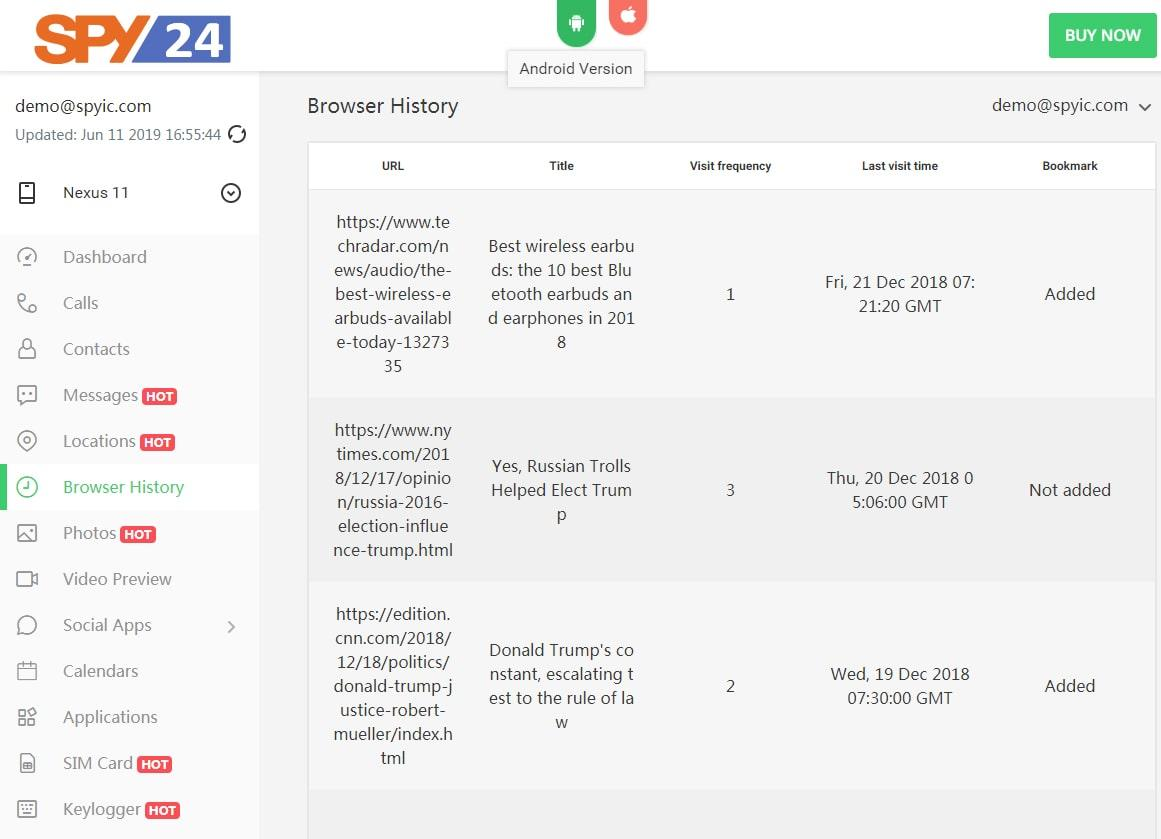 Browser History Tracker