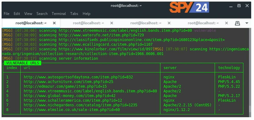 FINDING SQL INJECTION VULNERABILITIES